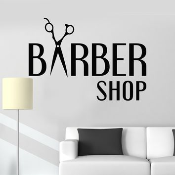Vinyl Wall Decal Barbershop Hair Salon Hairdresser Stylist Stickers Unique Gift (ig3227)