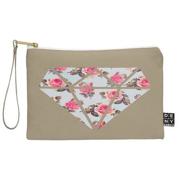 Allyson Johnson Floral Diamond Pouch