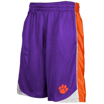Clemson Tigers Vector Mesh Shorts – Purple