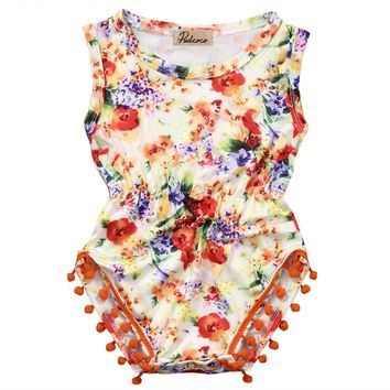 2016 newborn infant baby Girls floral romper Jumpsuit Sunsuit Outfit Clothes newborn clothing baby girl clothes baby rompers