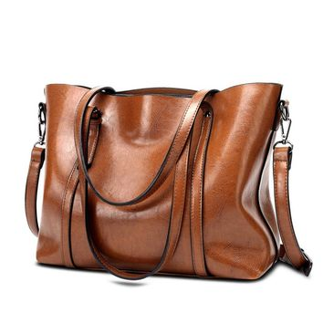 New Europe and America Retro Fashion Cowhide Leather Bags Handbags Women Crossbody Bag Trunk Tote Designer Shoulder Bag Ladies L