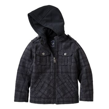 Urban Republic Wool Military Jacket - Toddler Boy