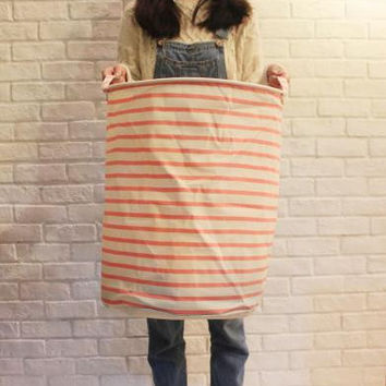 new Large Laundry Hamper Bag Cartoon Stripe Clothes Storage Baskets Home clothes barrel Bags kids toy storage laundry basket