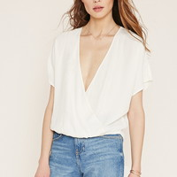 Contemporary Surplice Crepe Top | Forever 21 - 2000171624