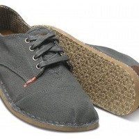 Charcoal Canvas Men's Oxford | TOMS.com