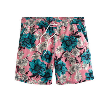 "J.Crew Mens 6"" Swim Trunk In Hibiscus Floral"