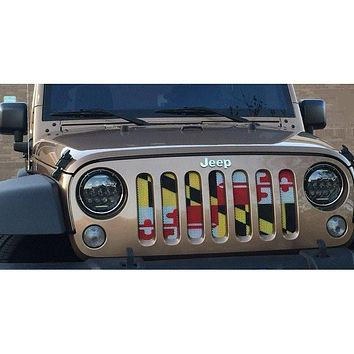 Maryland Flag / Jeep Grill (1-2 Week Delivery)