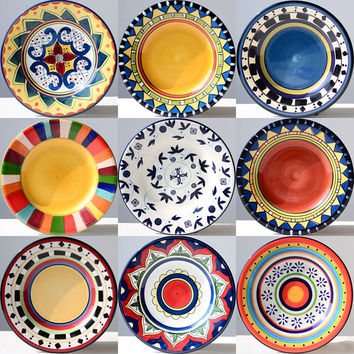Shop decorative hanging plates hand painted on wanelo for Where to buy ceramic plates to paint