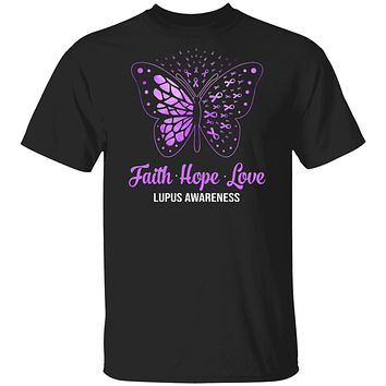 Faith Hope Love Purple Butterfly Lupus Awareness