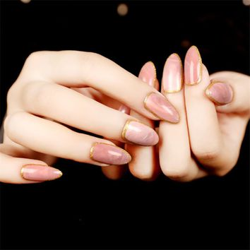 2017 New Design Pink Nail Tips Faux Ongles Nep Nagels Plastic Pr