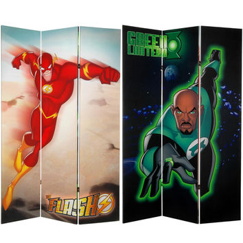 Green Lantern The Flash 6 Ft Tall Canvas Room Divider