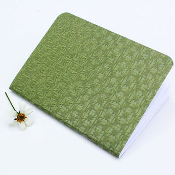 Green Ornamental Glossy Texture Traveler's Notebook Journal Stationary Planner Insert Blank Pages Sketchbook