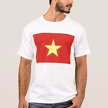 T Shirt with Flag of Vietnam