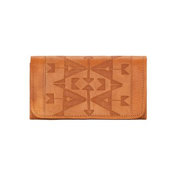 American West Crossed Arrows Ladies Tri-Fold Wallet