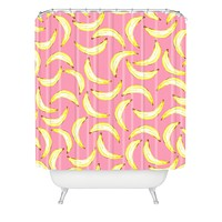 Lisa Argyropoulos Gone Bananas In Pink Shower Curtain