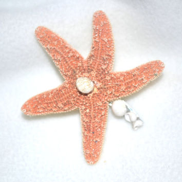 Starfish Beach Wedding Hair Clip, Beach Theme Hair Clip