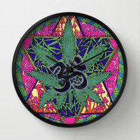 namaste Wall Clock by Natasha Marie