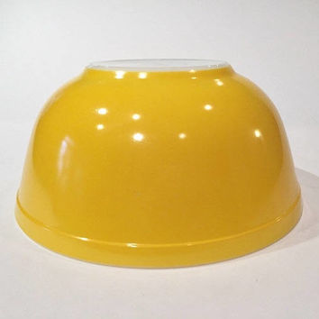 Rare Solid Bright Yellow Pyrex 403 Mixing Bowl | Vintage Pyrex Primary Colors Nesting Bowl, Yellow Pyrex Baking
