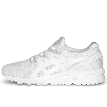 asics gel kayano trainer evo shoes white white  number 1