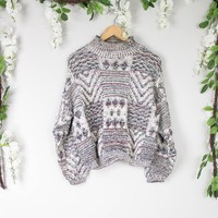 Vintage Marled Knit Sweater