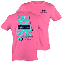 "Simply Southern ""Preppy Alabama"" T-shirt 2X"