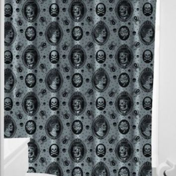 Sourpuss Zombie Cameo Gray Shower Curtain
