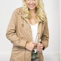 Jay Hooded Jacket | Taupe