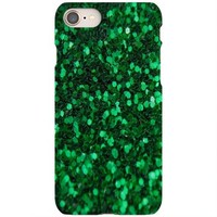 Green Glitter Iphone 8 Cover