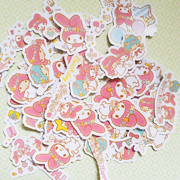 40 PCS, My Melody sticker, Little Twin Stars sticker, Sanrio sticker, Miffy sticker, Sanrio Japan
