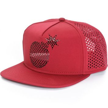 The Hundreds Solid Bomb Perforated Snapback Hat