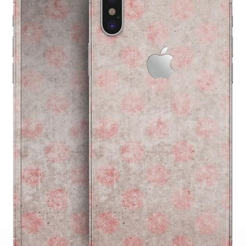 Fading Brown and Red Polkadotted Pattern - iPhone X Skin-Kit