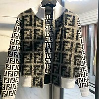 Fendi New fashion more letter long sleeve coat jacket women