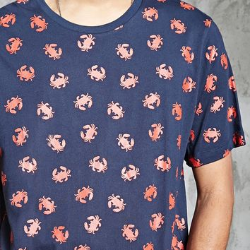 Crab Print Graphic Tee