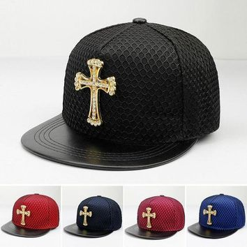 PEAP78W 2017 Fashion Summer Brand cross rhinestone Baseball Cap Hat For Men Women Teens Casual Bone Hip Hop Snapback Caps Sun Hats