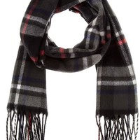 Classic Plaid Fringe Scarf (2 Colors Available)