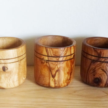 FREE SHIPPING, Olive Wood spice box container canister bowl, salt, sugar, pepper, coffee, tea box, set of 3 Olive Wood boxes, wedding gift