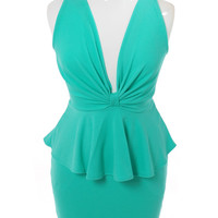 Plus Size Captivating Bow Mint Dress, Plus Size Clothing, Club Wear, Dresses, Tops, Sexy Trendy Plus Size Women Clothes