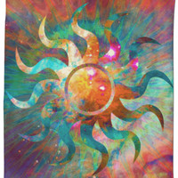Psychedelic Sun Shower Curtain