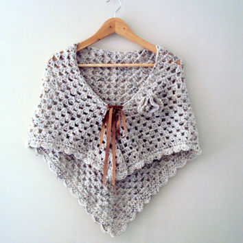 Bridal Shawl Shrug Bolero Capelet Scarf with Removable Flower Women's Clothing Mother's Day Gift