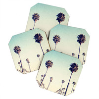Bree Madden California Palm Trees Coaster Set