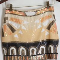 Peachy Design Sequin Skirt