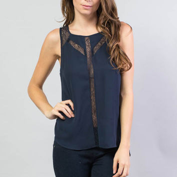 Paneled Sleeveless Top