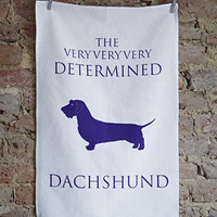 Determined Dachshund Tea Towel