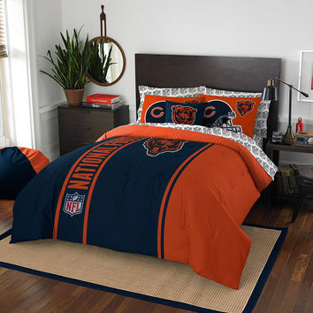 Chicago Bears NFL Full Comforter Bed in a Bag (Soft & Cozy) (76in x 86in)