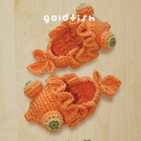 Goldfish Baby Booties Crochet PATTERN, SYMBOL DIAGRAM (pdf)