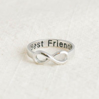Best Friends infinity ring in silver by applelatte on Etsy