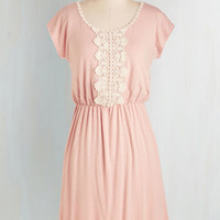 Pastel Mid-length Short Sleeves A-line Road to Rhode Island Dress
