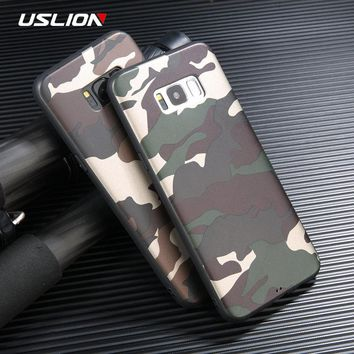 Cool Army Green Camouflage Print Phone Case For Samsung Galaxy S8 Plus Soft TPU Back Cases Cover For Galaxy Note 8