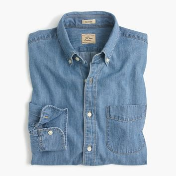 Lightweight denim shirt in light wash
