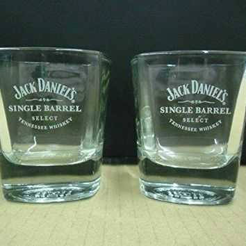 Set of 4 Jack Daniels Tennessee Whiskey Single Barrel Select Square Lowball Rocks Glasses